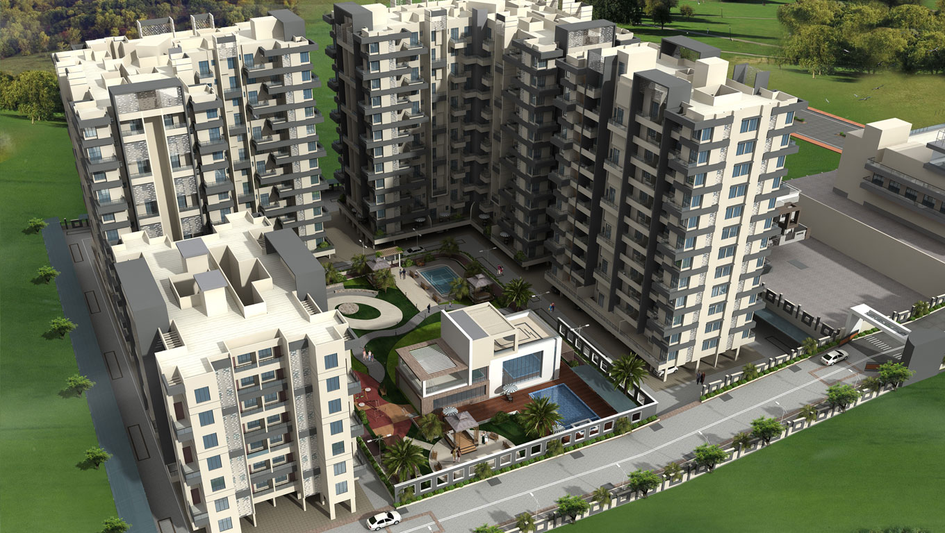 AJMERA REALTY INFRA EXOTICA WAGHOLI PUNE OFFERED 1,2 BHK APARTMENTS
