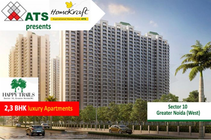 ATS HOMEKRAFT HAPPY TRAILS OFFERED 2,3BHK APARTMENTS AT GREATER NOIDA WEST
