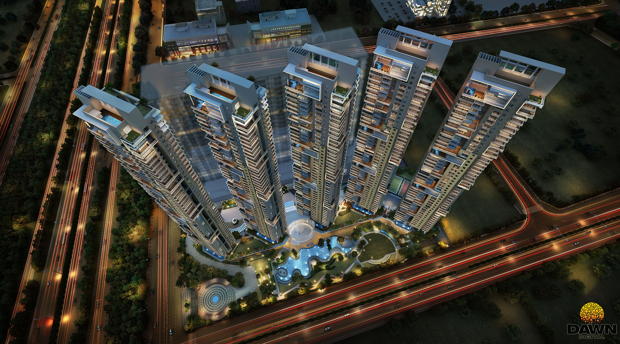 ATS KNIGHTBRIDGE OFFERED 4,6BHK BHK LUXURY APARTMENTS AT SECTOR 124, NOIDA