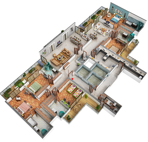 5BHK Floor Plan(6000sq ft)